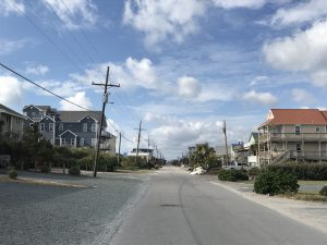 View of a road in Topsail Beach