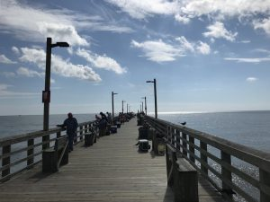 View of the pier on Topsail Beach